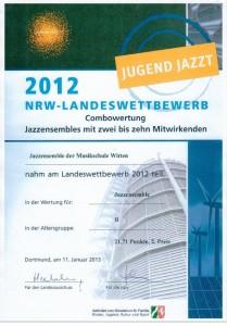 2. Platz - Jugend Jazzt 2012